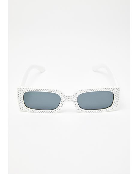 Blanc Badabing Badaboom Rhinestone Sunglasses