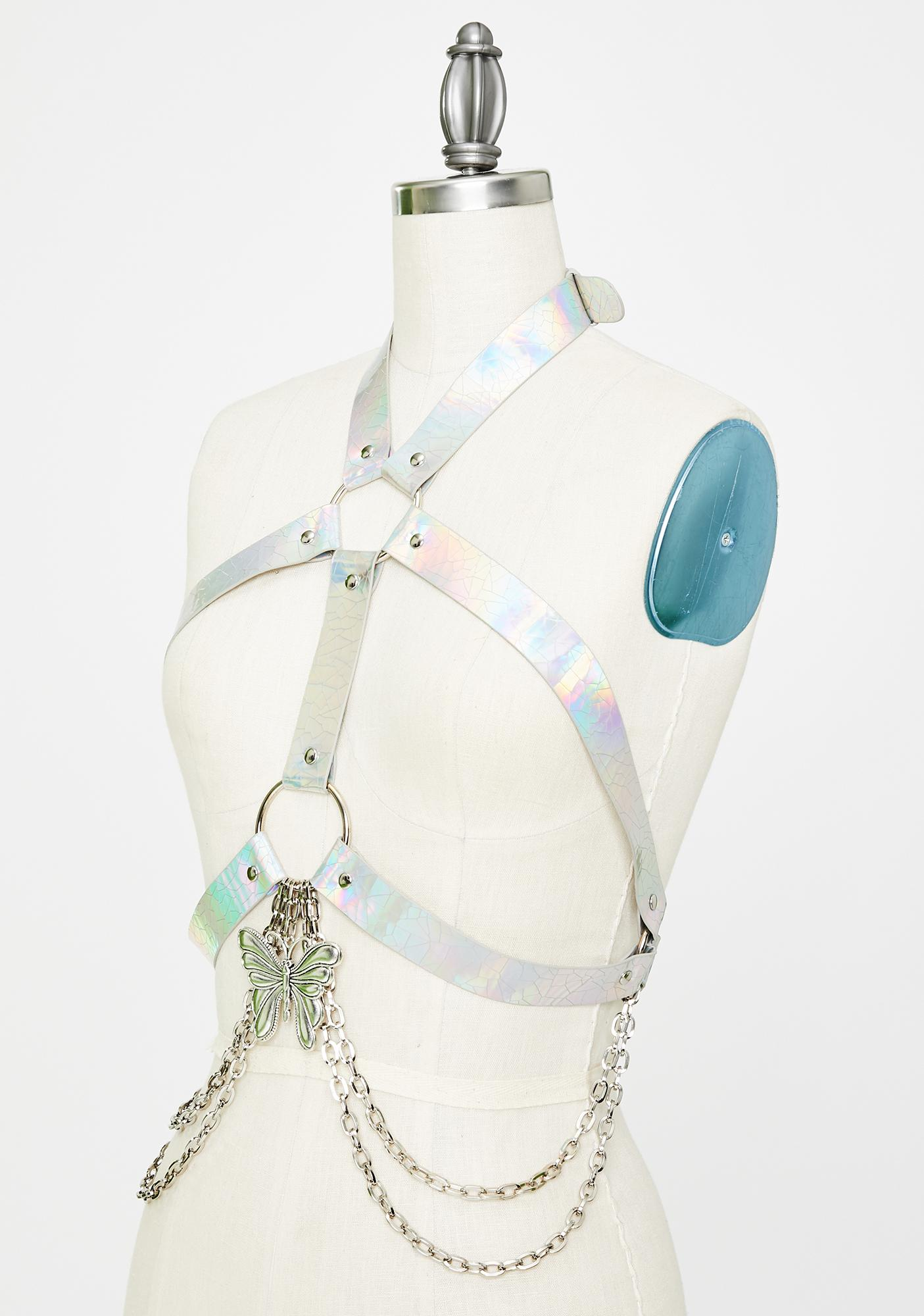 Club Exx Cosmic Muse Holographic Harness