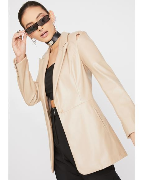 Moss Cut-Out Blazer