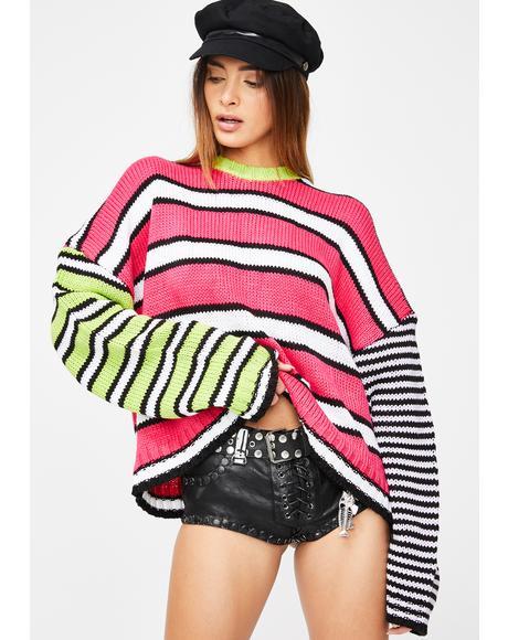 Almost Knit Stripe Sweater