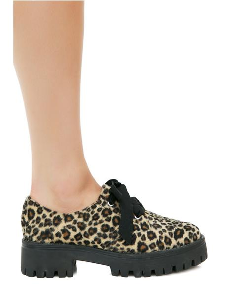 Sneak Attack Leopard Oxfords