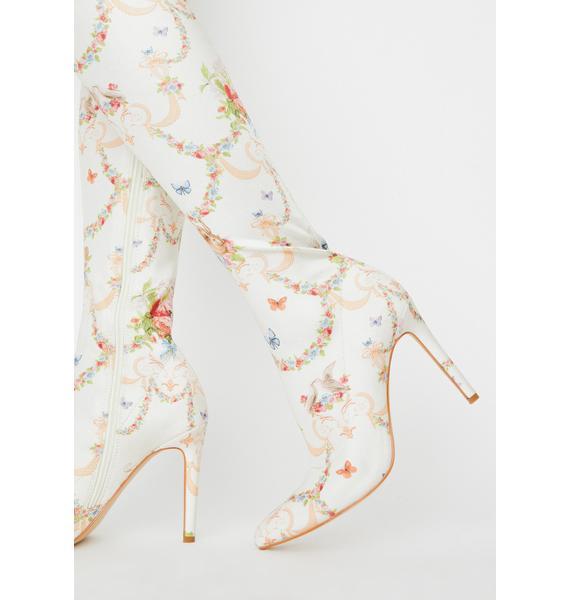 Sugar Thrillz Lush Opulence Thigh High Boots