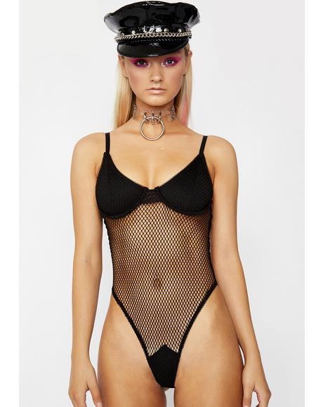 Playing For Keeps Fishnet Bodysuit