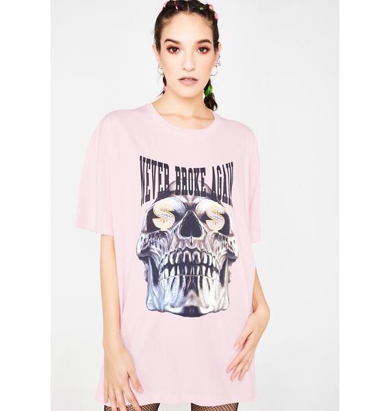 Never Broke Again Dolla Sign Skull T-Shirt
