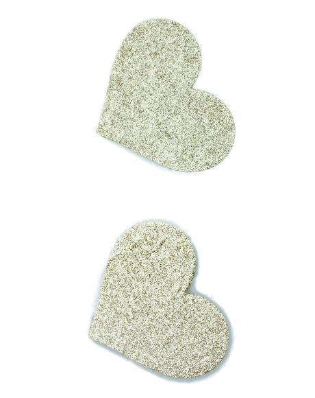 Gold Glitter Heart Pasties