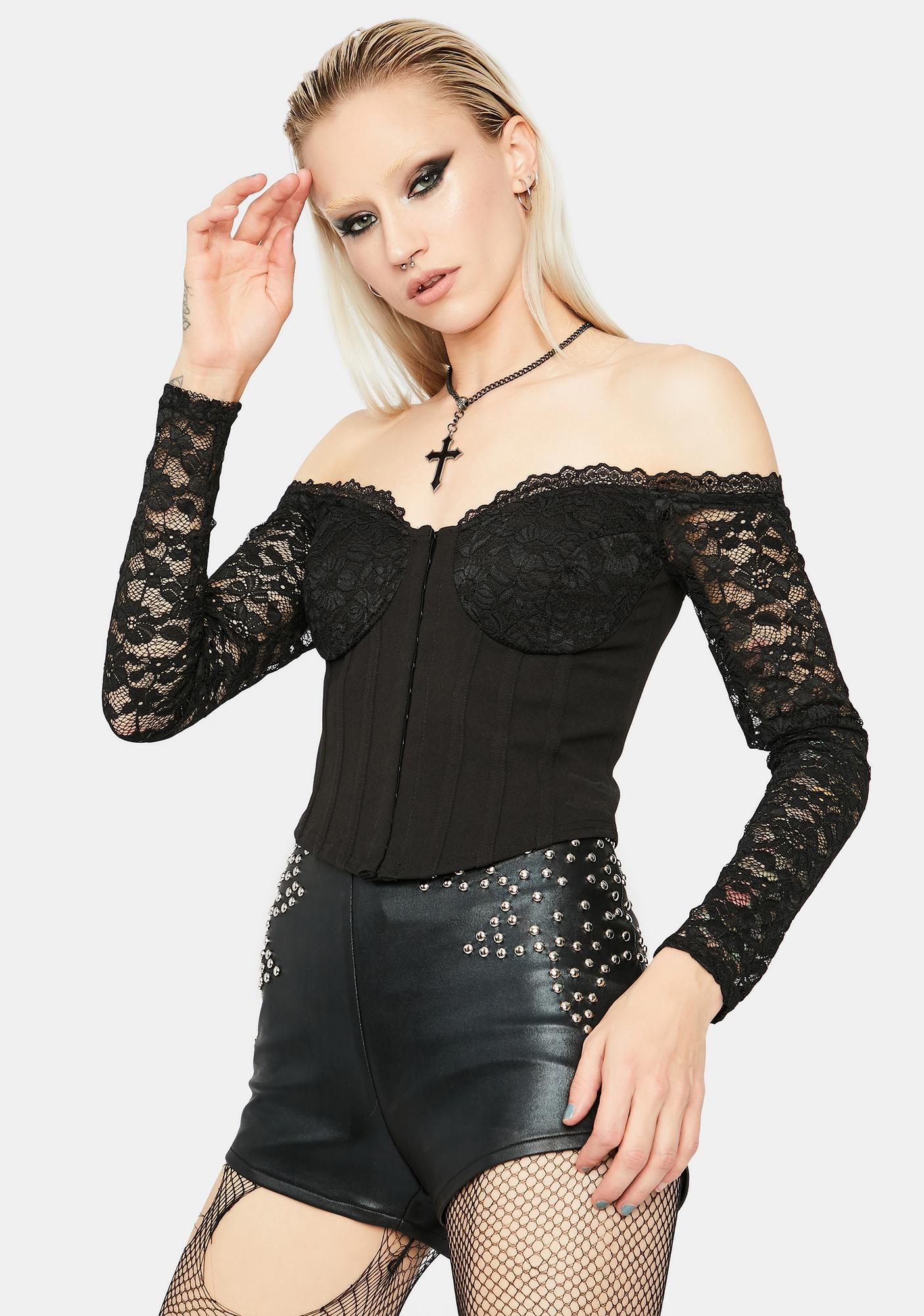 Step On Up Lace Corset Top
