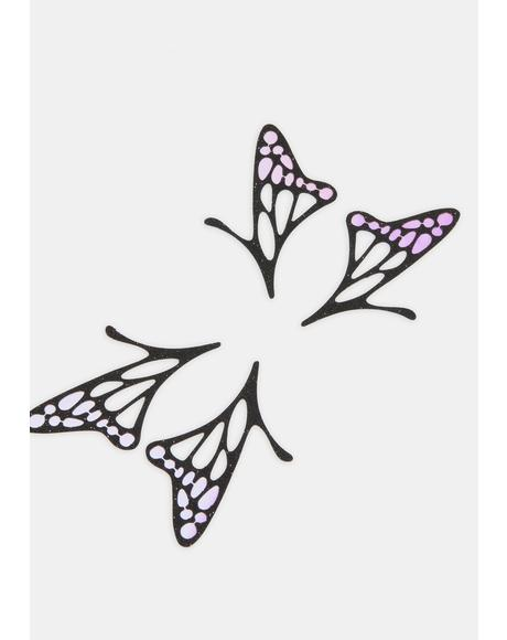 Butterfly Lace Face Stickers