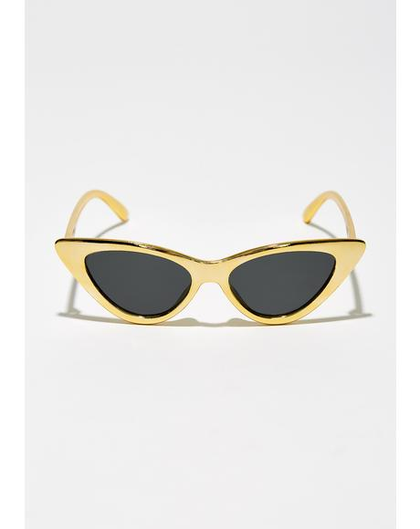 Golden Shine On Ya Metallic Sunglasses