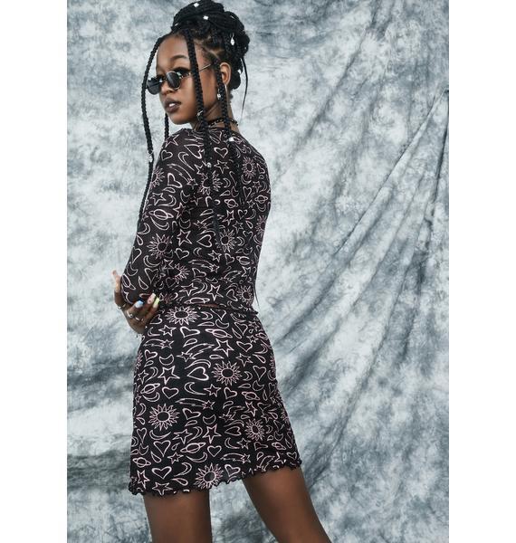 dELiA*s by Dolls Kill Girl Of Ur Nightmares Mini Skirt