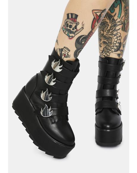 Karma Flame Platform Boots