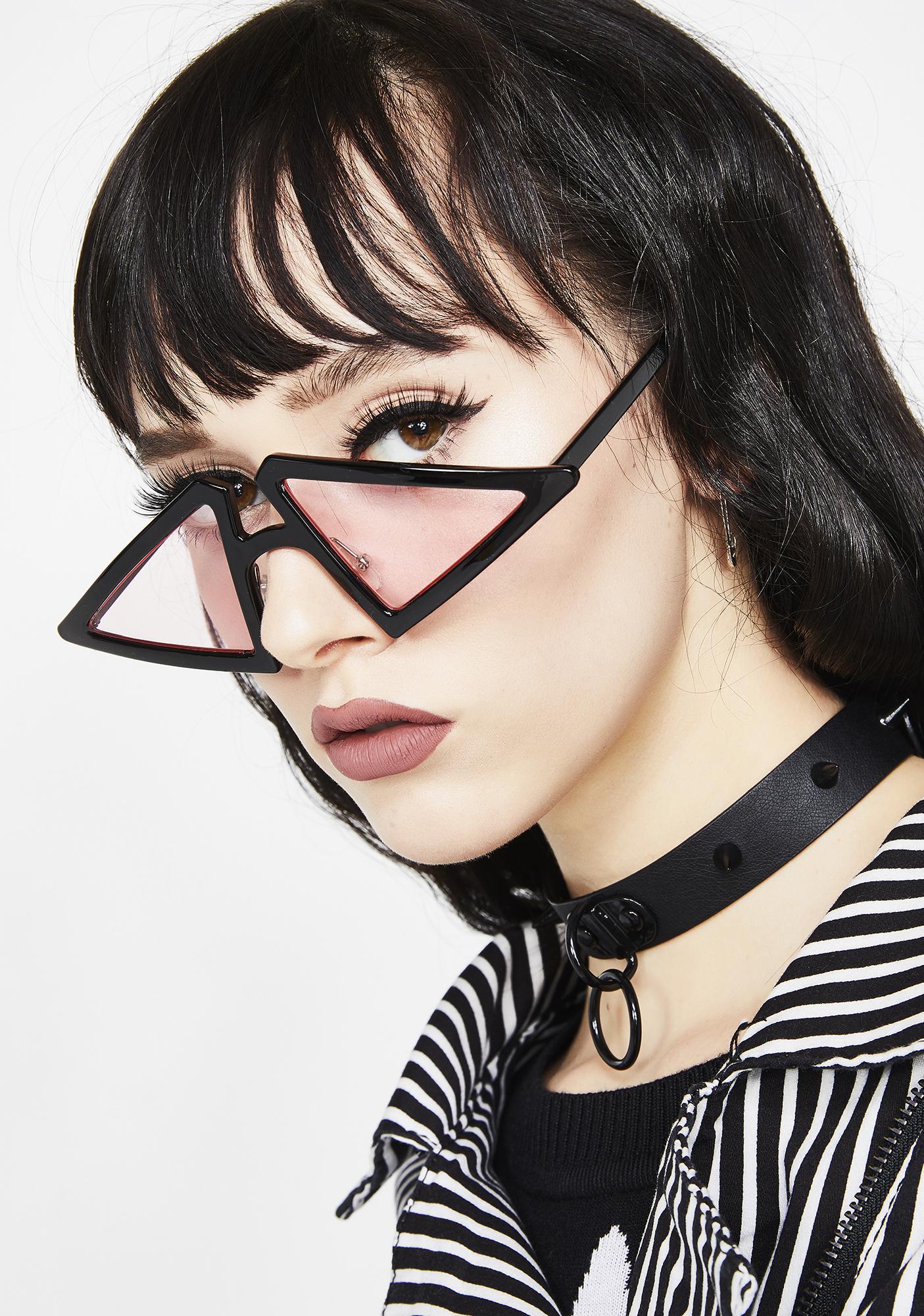 fb648a4acd7 Black Geometric Frame Sunglasses