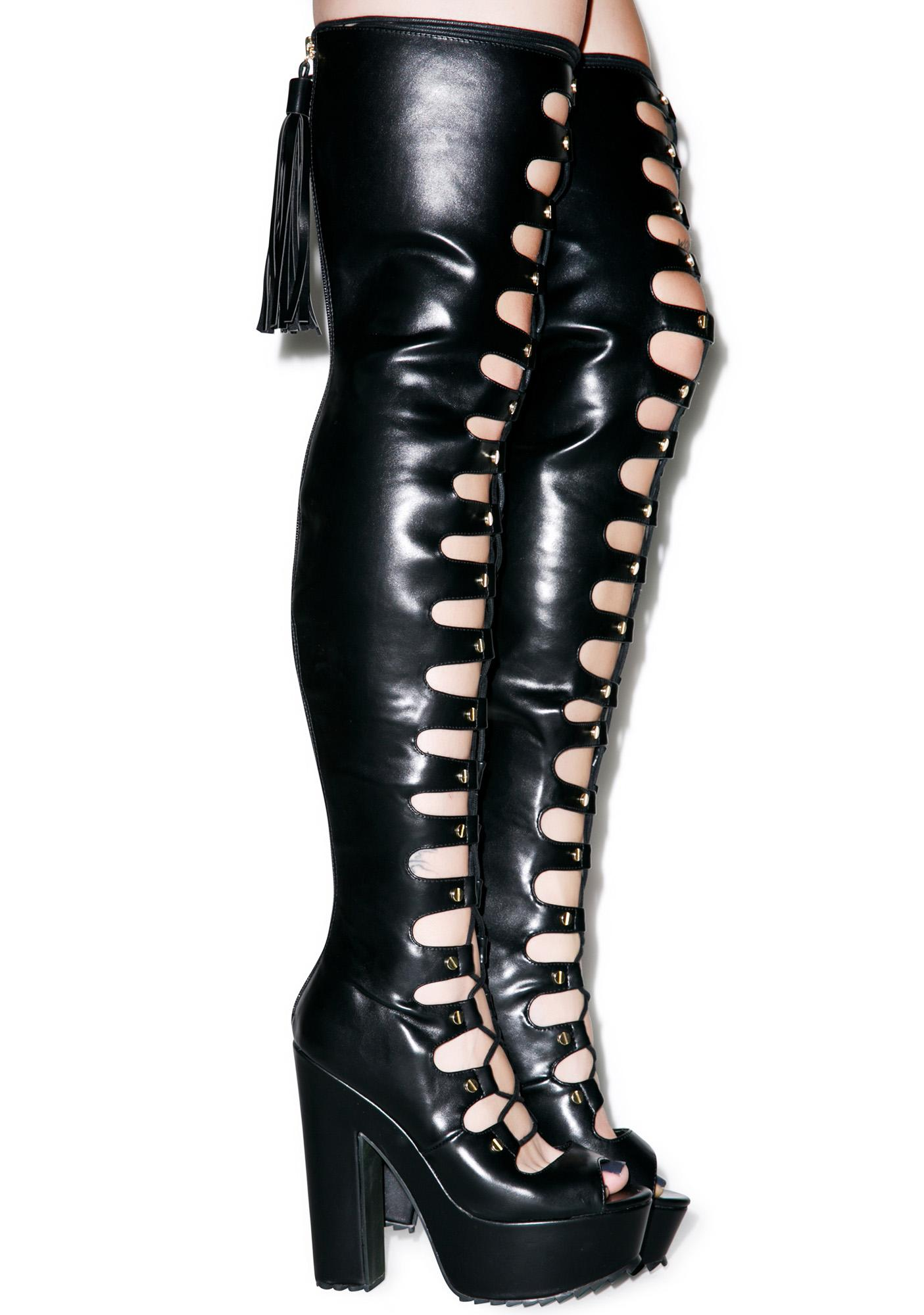Anarchy Lace Up Platform Heels