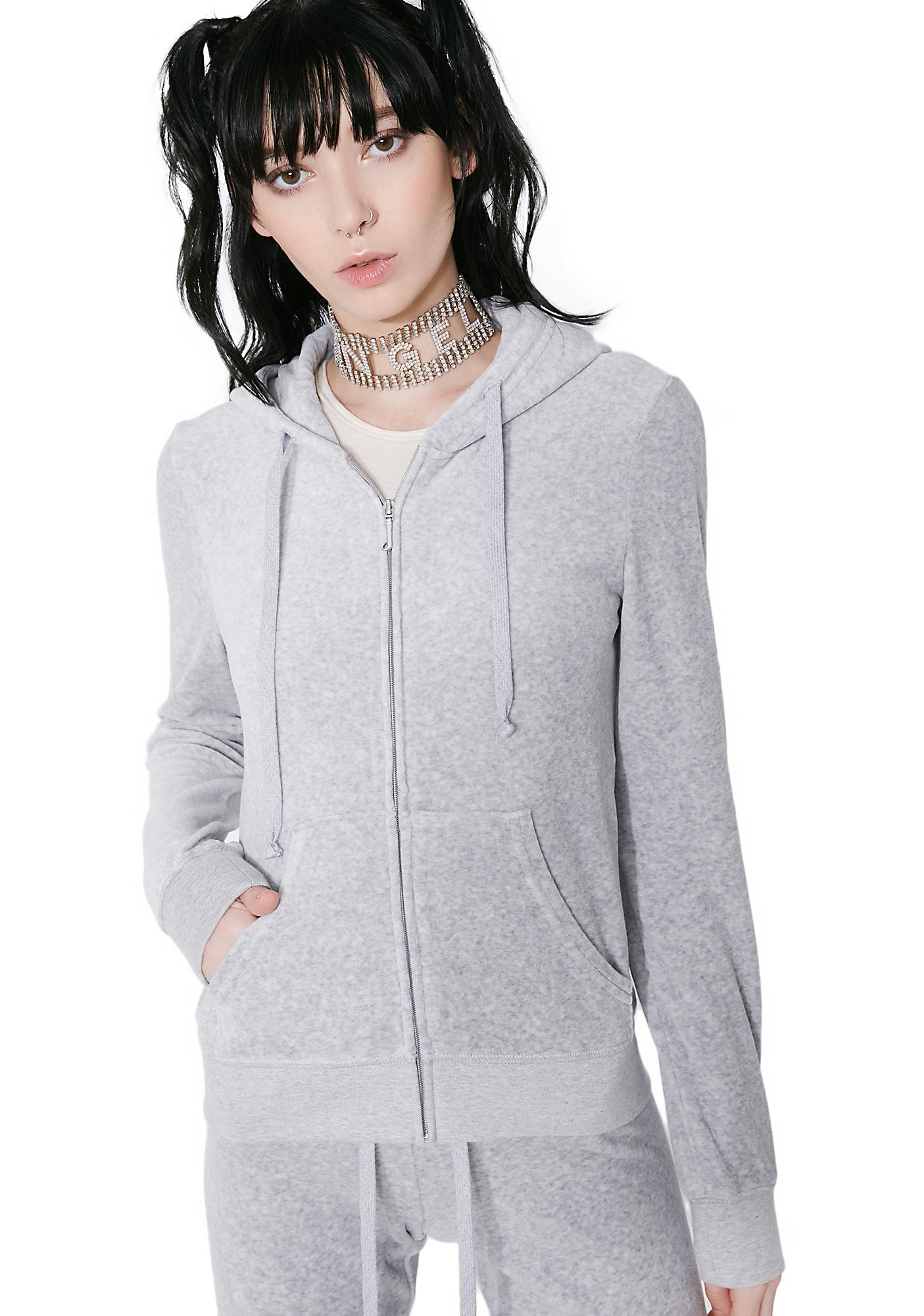 1edae47200df JUICY COUTURE Silver Lining Robertson Velour Jacket
