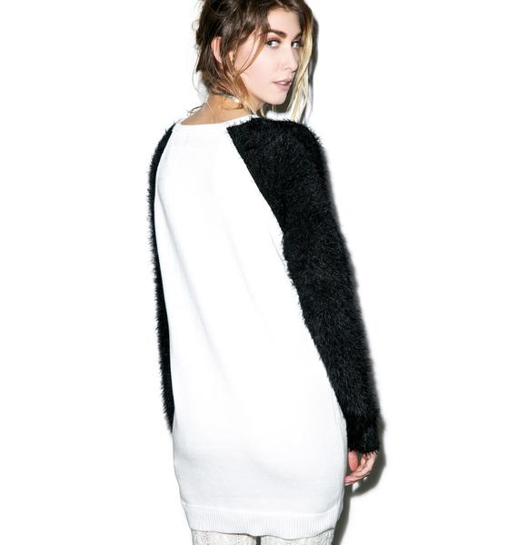 Mink Pink Panda Surprise Sweater Dress