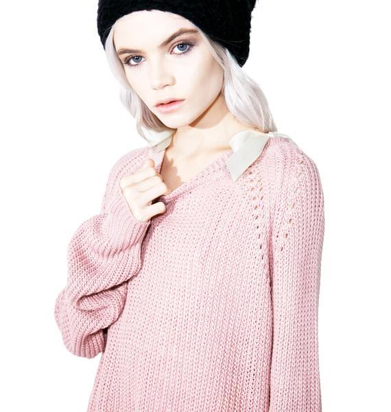 Romanticize Lace-Up Sweater