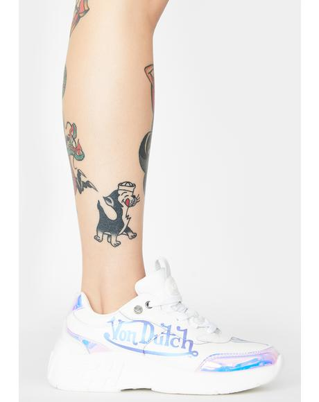 White Pearl Fairfax Classic Sneakers