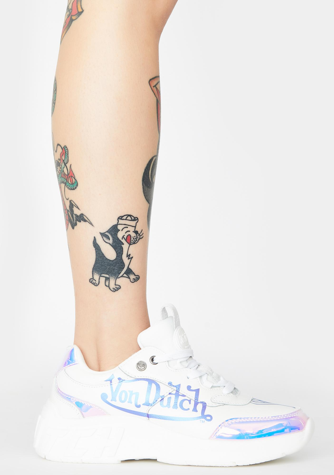 Von Dutch White Pearl Fairfax Classic Sneakers