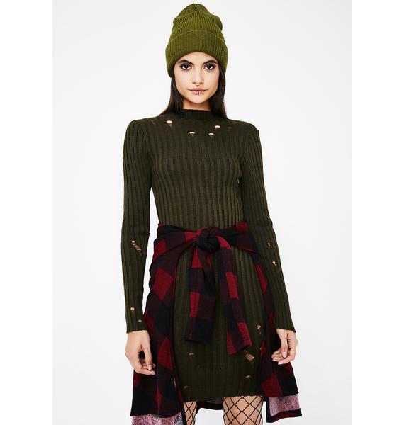 Get Wrecked Sweater Dress