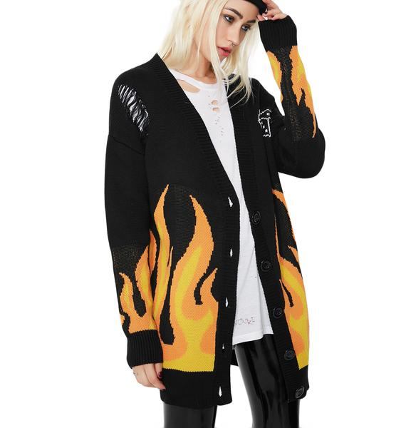 Current Mood Welcome To Hell Oversized Cardigan