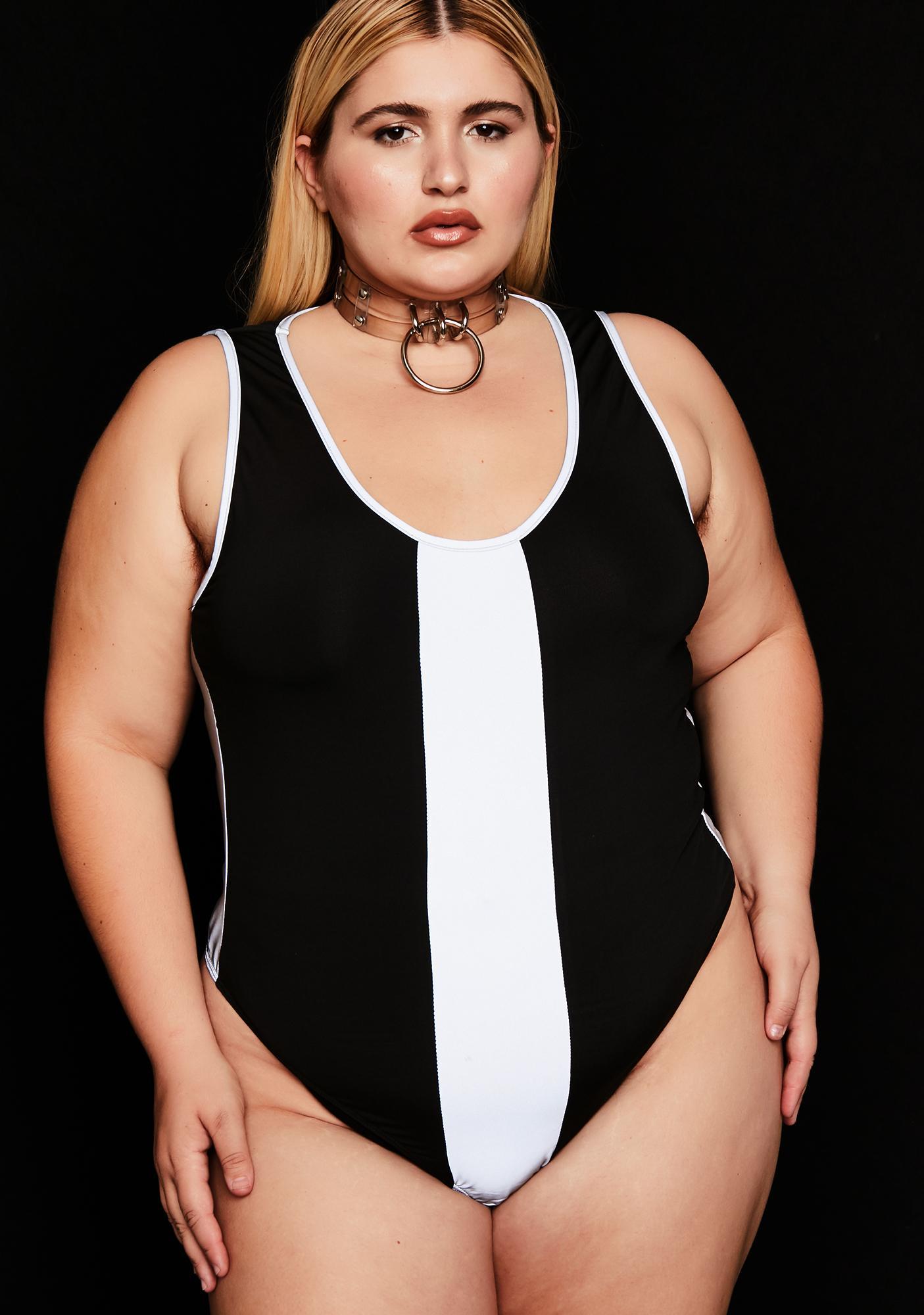 a585ac276b Plus Size Reflective Panel Bodysuit | Dolls Kill