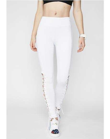 Pure Voguing Vixen Lace-Up Leggings