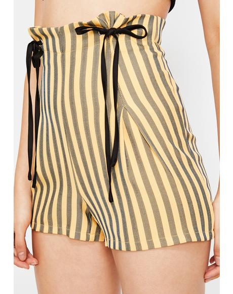 Diva Edition Striped Shorts