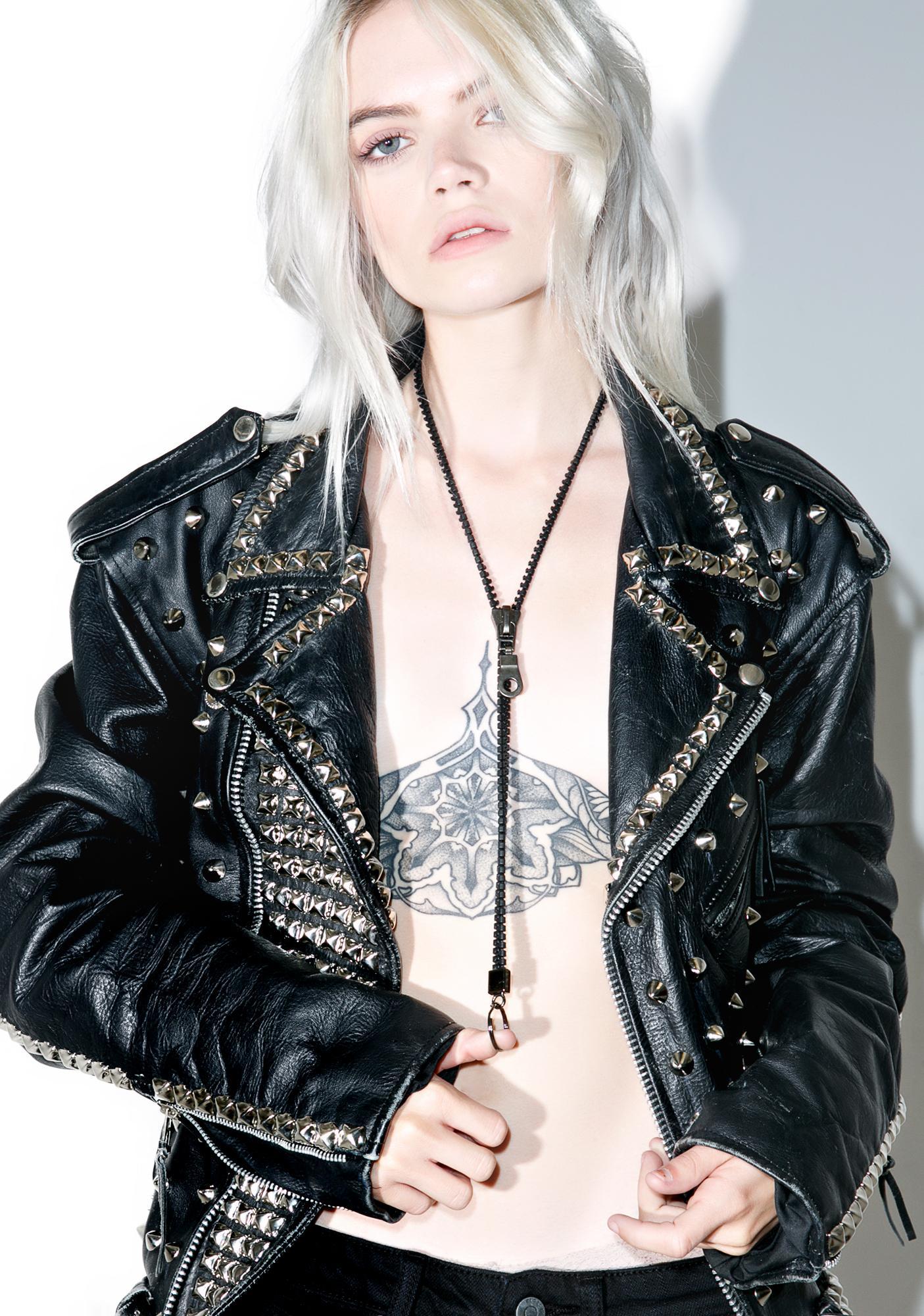 Zipper Lanyard Necklace