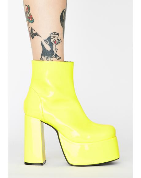 Lemon Groovy Delight Platform Boots