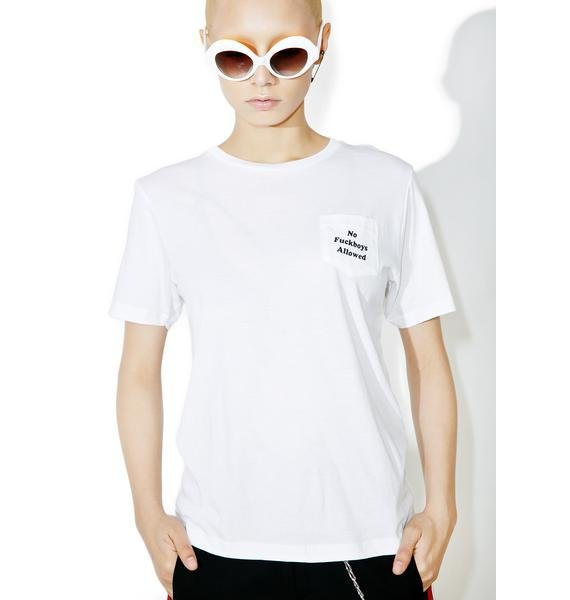 Married to the Mob F Boys Pocket Tee