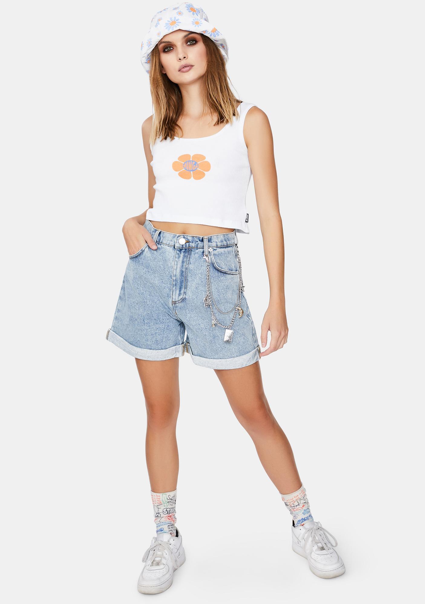 Minga Art Pocket Denim Mom Shorts