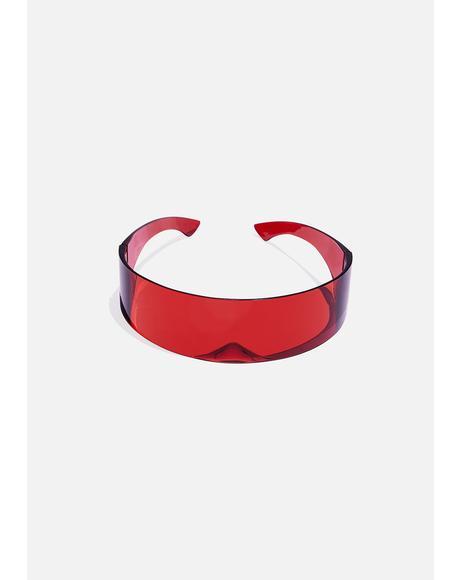 Red Shield Sunglasses