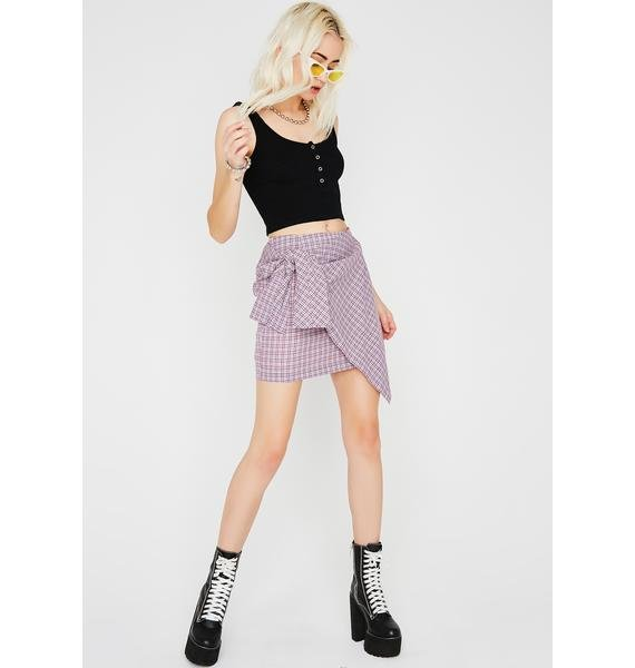 Ready To Go Plaid Skirt