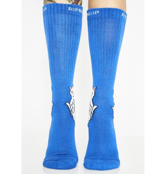 RIPNDIP Cobalt Lord Nermal Socks