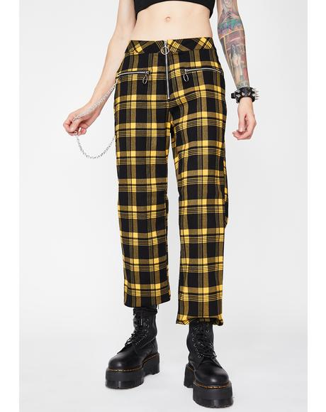 Misfit Misconduct Plaid Pants