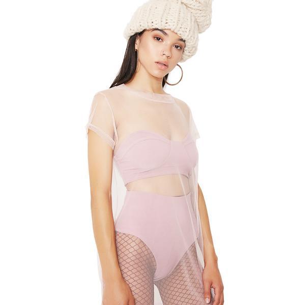 Glamorous Blushin' Sheer Delight Dress