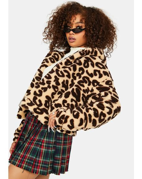 Simple Things Leopard Sherpa Jacket