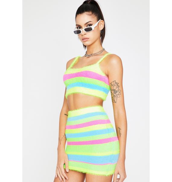 Brilliant Plasma Candy Skirt Set