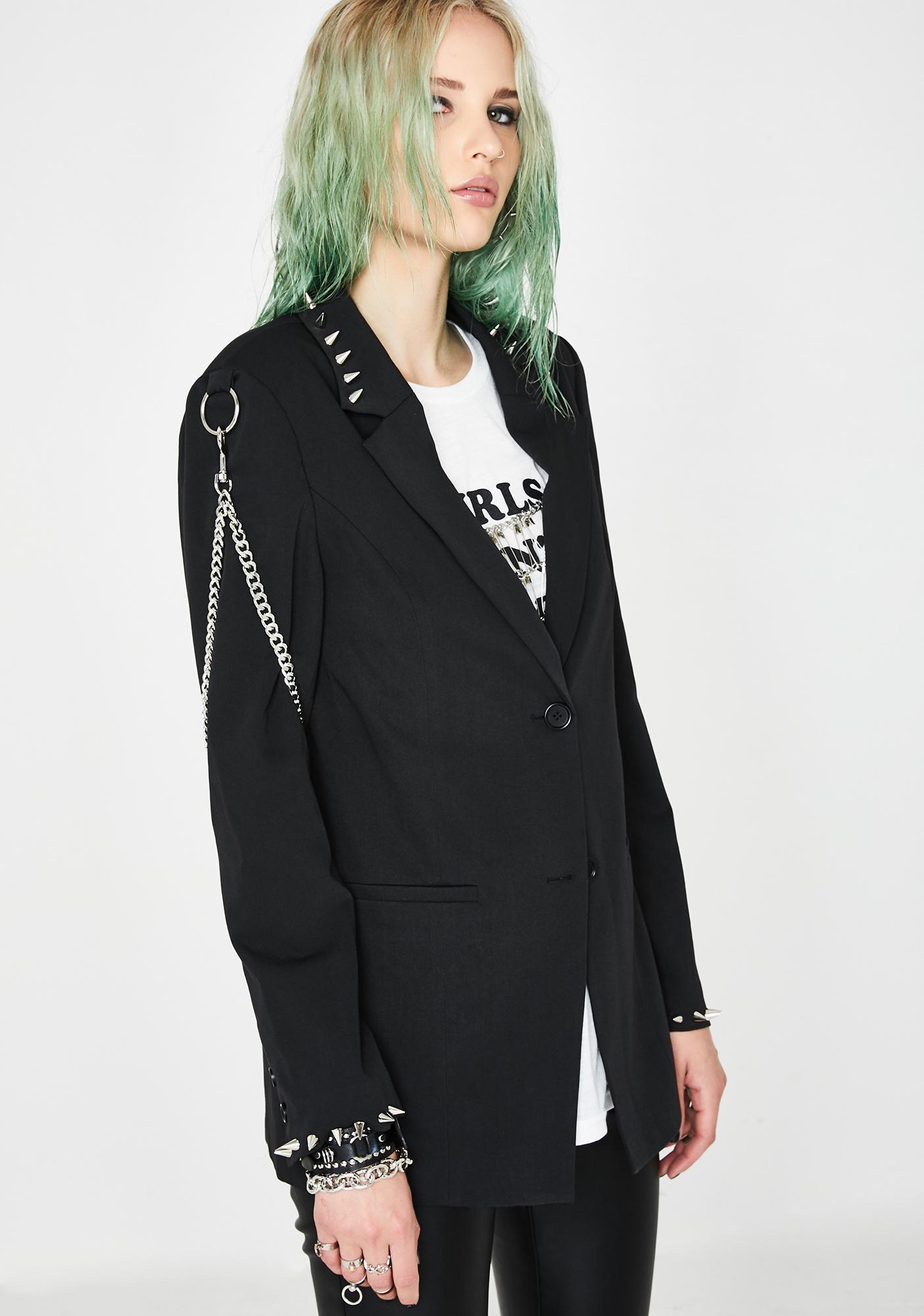 Current Mood Professional Outcast Studded Blazer