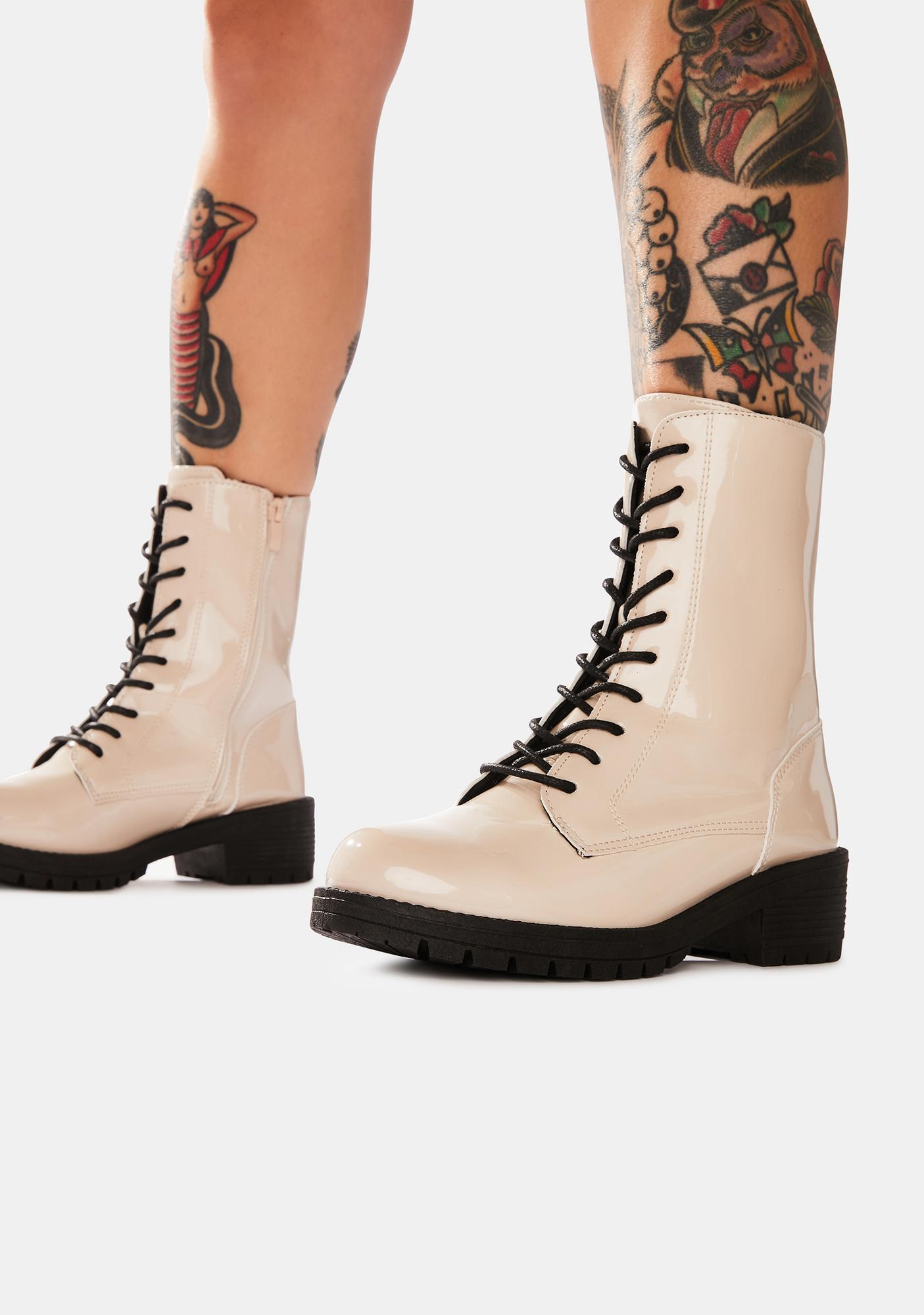 We Meet Again Combat Boots