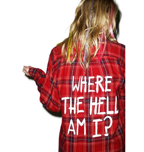 Jac Vanek Where The Hell Am I Vintage Flannel