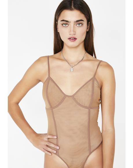 Mocha Chevie Bodysuit