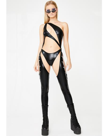 Onyx Prism Moonwalk Cut-Out Catsuit