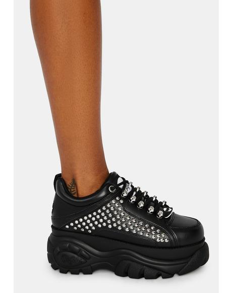 Studded Platform Sneakers