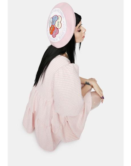 Punky Heart Beret Hat