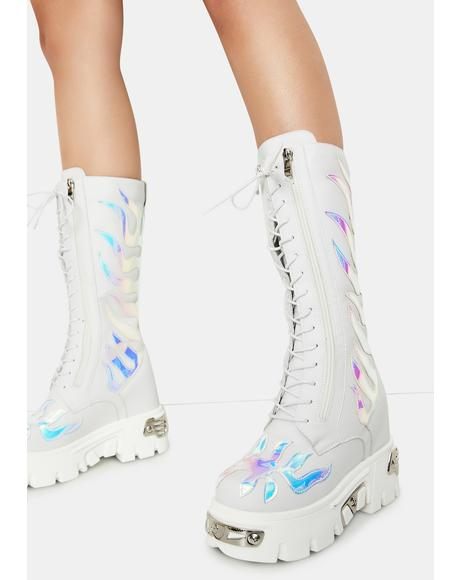 Icy Rage On Flame Platform Boots
