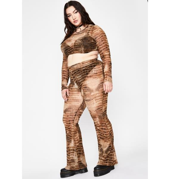 Lux It's A Snap Crocodile Pant Set
