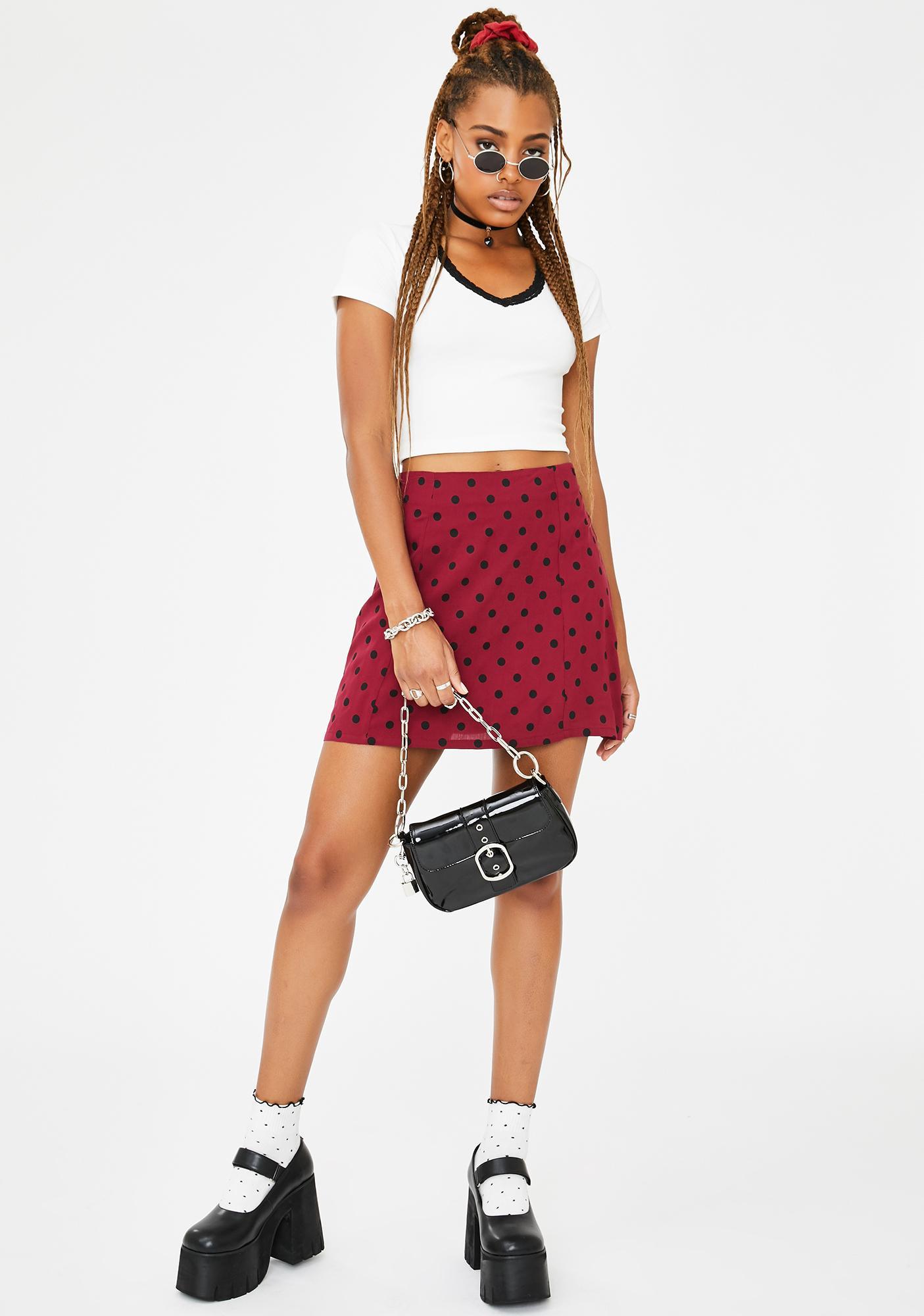 Current Mood Love Notes Polka Dot Skirt