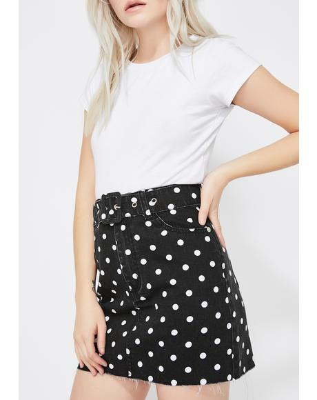 Dark Sugar Town Polka Dot Skirt