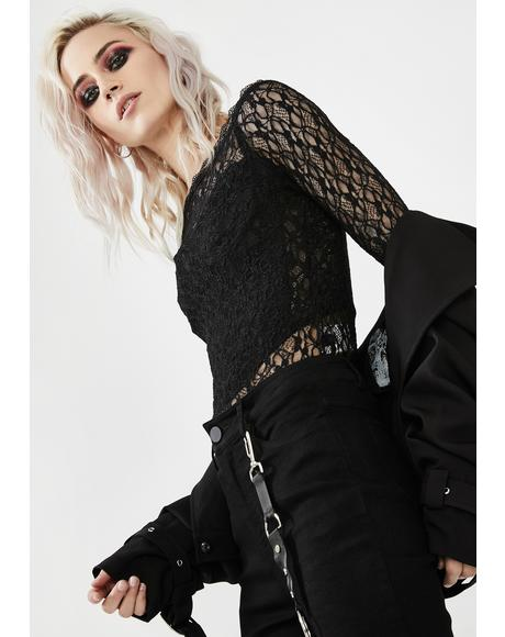 Dark Rosarium Lace Top