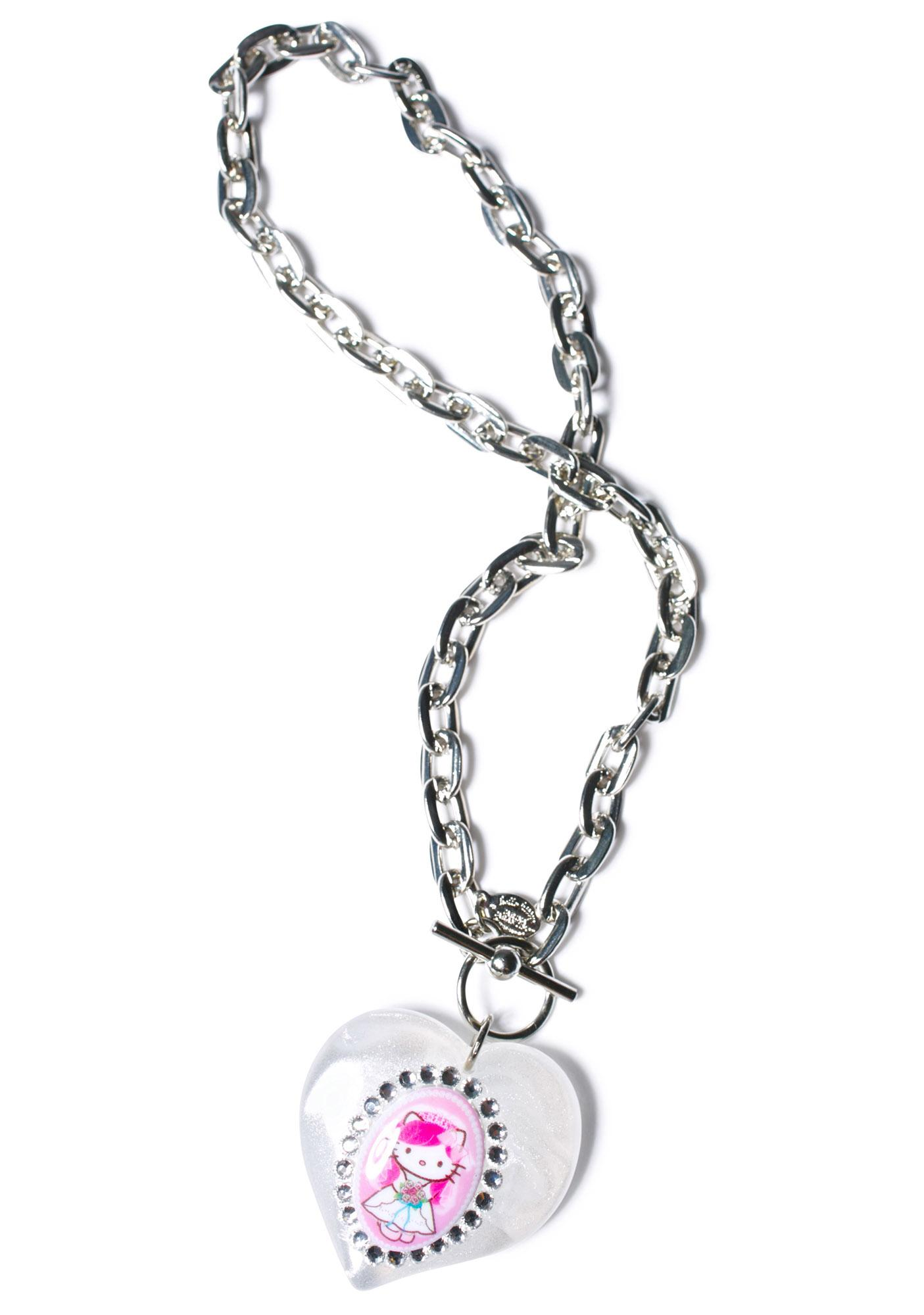 Tarina Tarantino Puff Heart Necklace